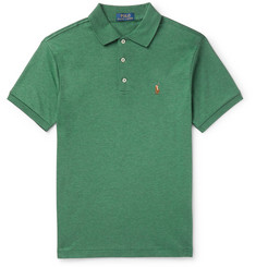 Polo Ralph Lauren Slim-Fit Mélange Cotton-Jersey Polo Shirt