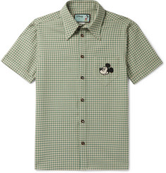 Gucci + Disney Appliquéd Checked Wool Shirt