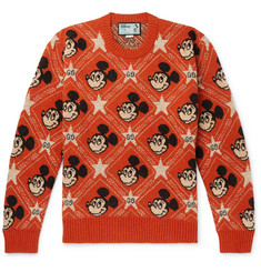Gucci + Disney Intarsia Wool and Alpaca-Blend Sweater