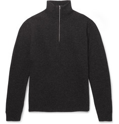 Norse Projects Fjord Slim-Fit Mélange Merino Wool Half-Zip Sweater