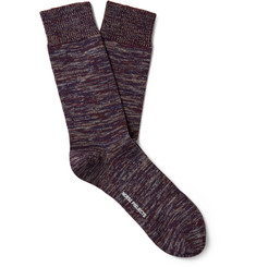 Norse Projects Bjarki Mélange Cotton-Blend Socks