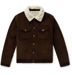 J.Crew Wallace & Barnes Fleece-Lined Cotton-Corduroy Trucker Jacket