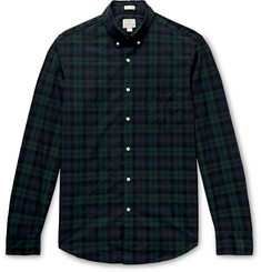 J.Crew Secret Wash Slim-Fit Button-Down Collar Checked Stretch-Organic Cotton Shirt