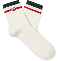 Gucci Striped Cotton-Blend Socks