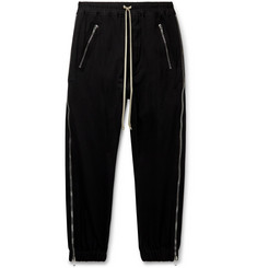 Rick Owens Zipped Cotton-Jersey Drawstring Sweatpants