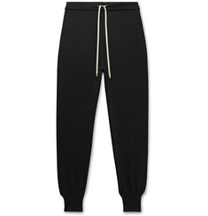Rick Owens Slim-Fit Tapered Merino Wool-Blend Sweatpants