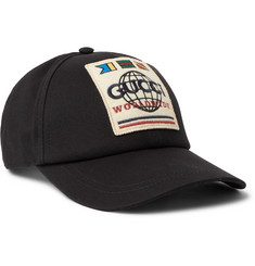 Gucci Logo-Appliquéd Cotton-Twill Baseball Cap