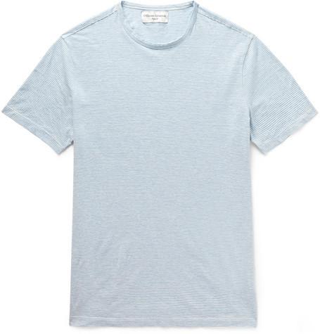 Officine Generale T-shirts Striped Cotton-Jersey T-Shirt