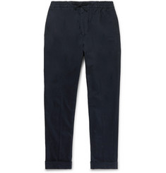 Officine Generale Phil Slim-Fit Garment-Dyed Cotton-Blend Drawstring Trousers