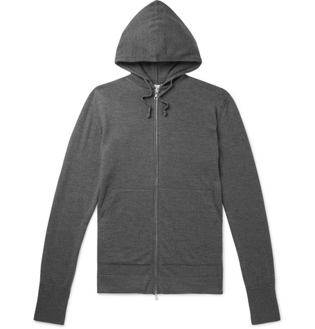 Officine Generale Tops MÉLANGE VIRGIN WOOL HOODIE