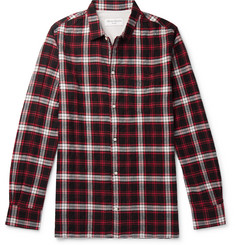 Officine Generale Checked Cotton-Blend Flannel Shirt