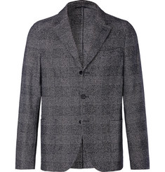 Officine Generale Grey Arnie Prince of Wales Checked Cotton-Blend Blazer