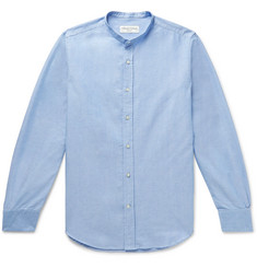 Officine Generale Grandad-Collar Cotton Oxford Shirt