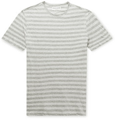 Officine Generale Striped Mélange Cotton-Jersey T-Shirt