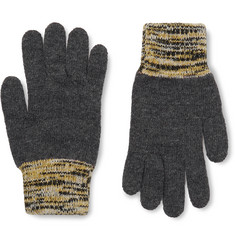 Oliver Spencer Varley Mélange-Trimmed Wool-Blend Gloves