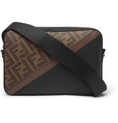 Fendi Logo-Print Coated-Canvas and Leather Messenger Bag