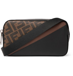 Fendi Mini Logo-Print Coated-Canvas and Leather Messenger Bag