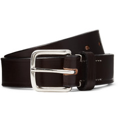 Mr P. 3cm Dark-Brown Leather Belt