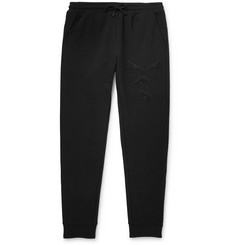Fendi Slim-Fit Tapered Logo-Appliquéd Cotton-Blend Jersey Sweatpants
