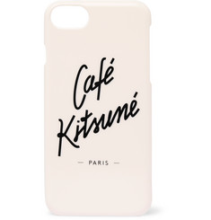Café Kitsuné Logo-Print iPhone 8 Case