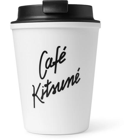 Café Kitsuné Logo-print Travel Cup In White