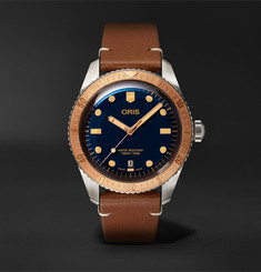 Oris Divers 40mm Bronze, Stainless Steel and Leather Watch, Ref. No. 01 733 7707 4355-07 5 20 45