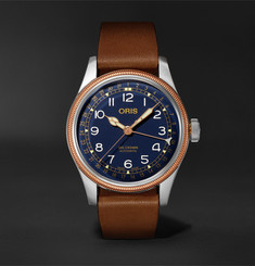 Oris Big Crown Pointer Date Automatic 40mm Stainless Steel, Bronze and Leather Watch, Ref. No. 01 754 774