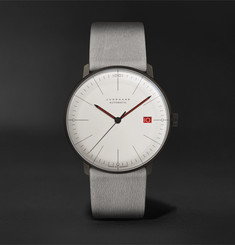 Junghans Max Bill 100 Jahre Bauhaus Limited Edition Automatic 38mm Stainless Steel and Leather Watch