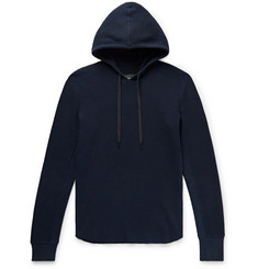 rag & bone Slim-Fit Waffle-Knit Cotton Hoodie