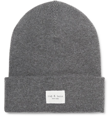 rag & bone Addison Logo-Appliquéd Knitted Beanie