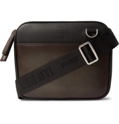 Berluti Contraste Leather Messenger Bag