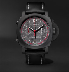 Panerai - Luminor Luna Rossa Challenger Automatic Flyback Chronograph 44mm Ceramic and Leather Watch