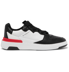 Givenchy Wing Grosgrain-Trimmed Full-Grain Leather Sneakers
