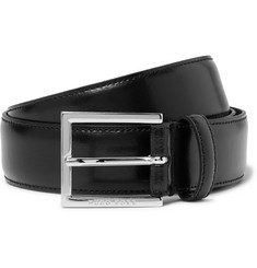 Hugo Boss 3.5cm Canzino Black Leather Belt