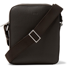 Hugo Boss Crosstown Full-Grain Leather Messenger Bag
