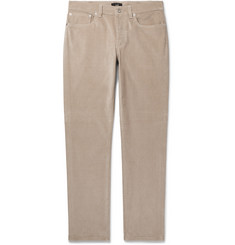 Dunhill Slim-Fit Stretch Cotton-Corduroy Trousers