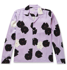 Saturdays NYC Marco Camp-Collar Floral-Print Lyocell Shirt