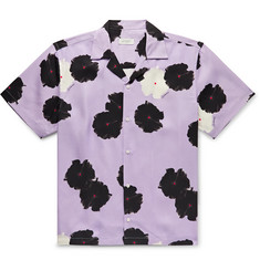 Saturdays NYC Canty Camp-Collar Printed Lyocell Shirt