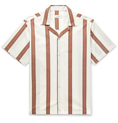 Saturdays NYC Canty Camp-Collar Striped Cotton-Poplin Shirt