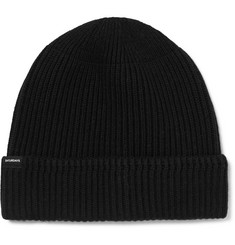 Saturdays NYC 1x1 Ribbed Cotton and Cashmere-Blend Beanie