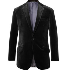 Richard James Charcoal Cotton-Velvet Blazer