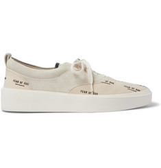 Fear of God 101 Leather-Trimmed Suede and Logo-Print Canvas Sneakers