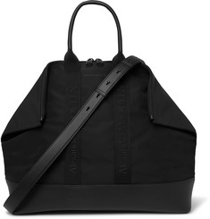 Alexander McQueen De Manta Leather-Trimmed Shell Tote