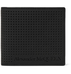 Alexander McQueen Perforated Leather Billfold Wallet