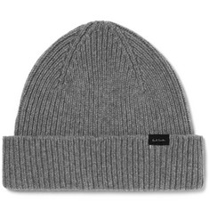 Paul Smith Ribbed Cashmere and Wool-Blend Beanie