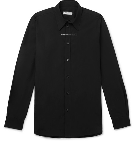 Givenchy Logo-Print Cotton-Poplin Shirt