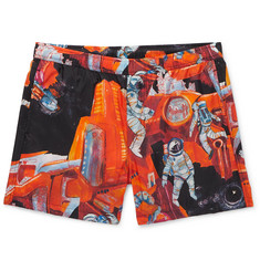 Valentino Printed Short-Length Swim Shorts