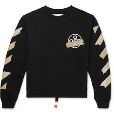 Off-White Logo-Print Fleece-Back Cotton-Jersey Sweatshirt