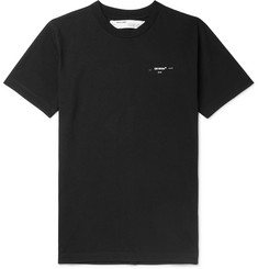 Off-White Slim-Fit Logo-Appliquéd Cotton-Jersey T-Shirt