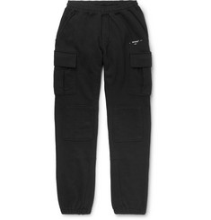 Off-White Tapered Logo-Print Loopback Cotton-Jersey Cargo Sweatpants